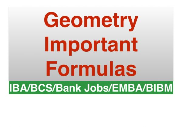 Geometry Important Formulas