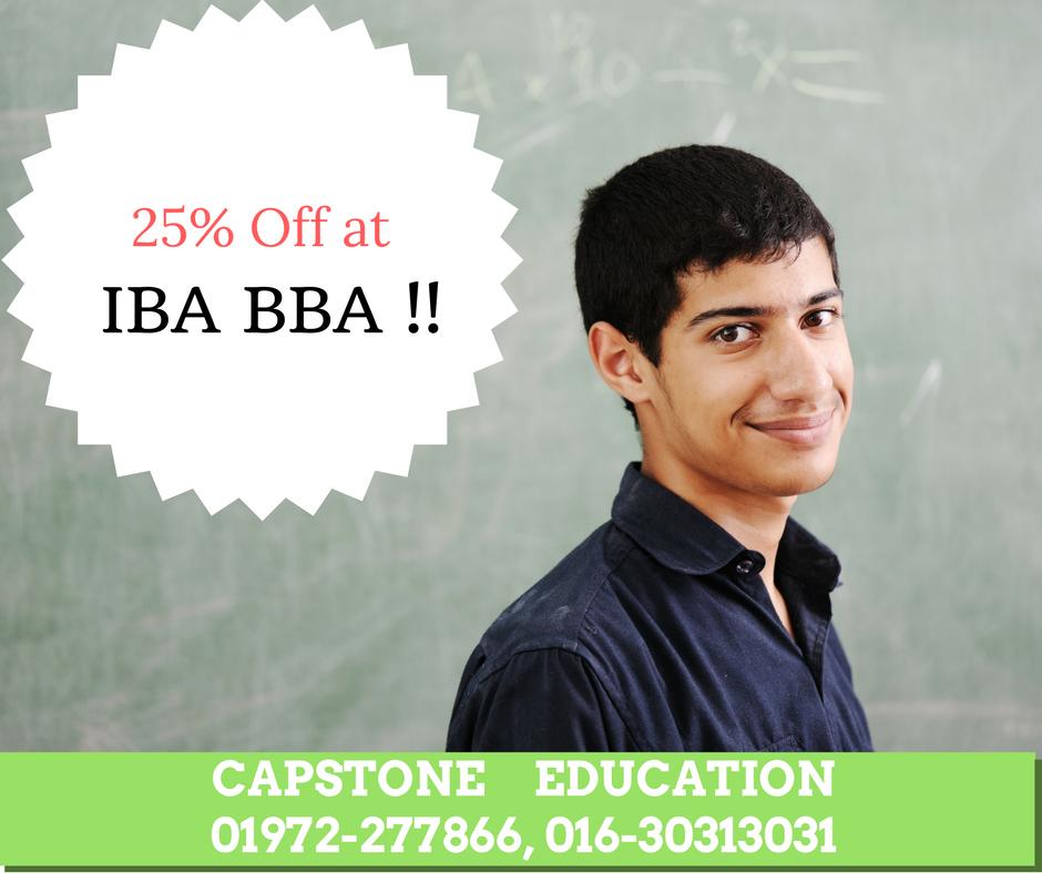 25% Off on BBA IBA Program !
